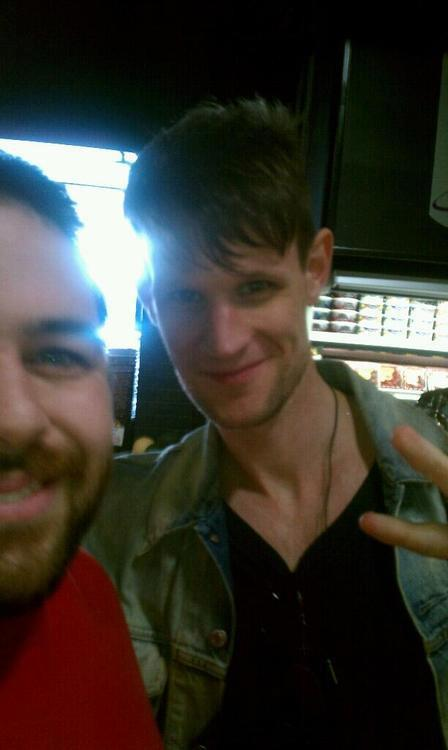 mumblingandgrumblings:  Matt Smith's new hairstyle………………………..Most likely for his new film directed by Ryan Gosling!