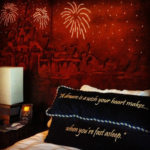 A dream is a wish your heart makes when you're fast asleep… #disney #twitter  (at Disneyland Hotel)