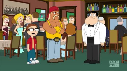 TV Show: American Dad Episode: Stanny Tendergrass (Season 8, Episode 9) Air Date: 1/29/2012 Wrestler(s) captured: Hulk Hogan (voicing as himself) IMDB Page: American Dad - Stanny Tendergrass