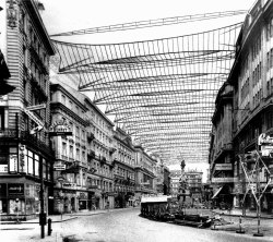 Hermann Czech - Project for a retractable roof over a street, Vienna 1965.