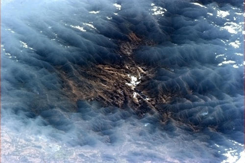 Venezuelan valley framed by misty clouds - mysterious, beautiful and surreal.