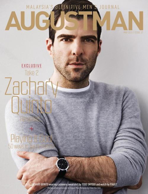 Todd Snyder‏@ToddSnyderNY Our friend @ZacharyQuinto looks great wearing TS on the cover of @AugustManMY shot by our favorite @MrChunkyExpress! pic.twitter.com/1BuPiHftun