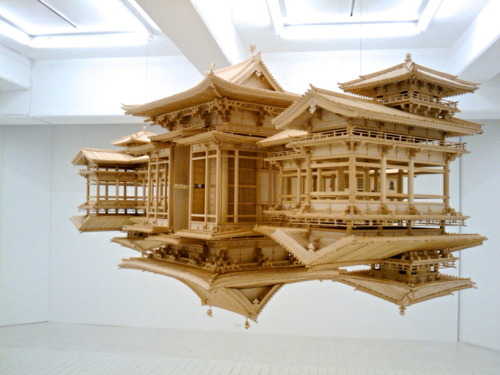 floating reflected temples by takahiro iwasaki lara db, designboom.com the highly detailed scale replica of the byodo-in - a tenth-century temple near kyoto - appears to float serenely in its own space.The post floating reflected temples by takahiro iwasaki appeared first on designboom.lara db