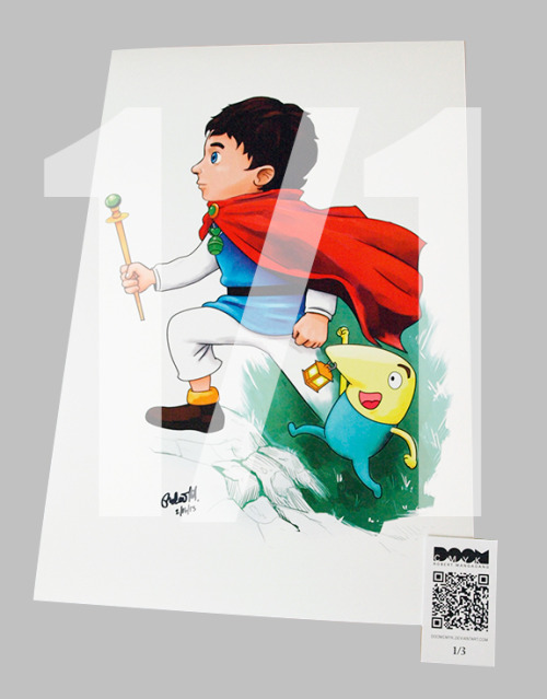 New! Oliver and Mr. Drippy, Ni No Kuni fan art. 1 of 1 Limited Run: http://etsy.com/shop/DoomCMYK