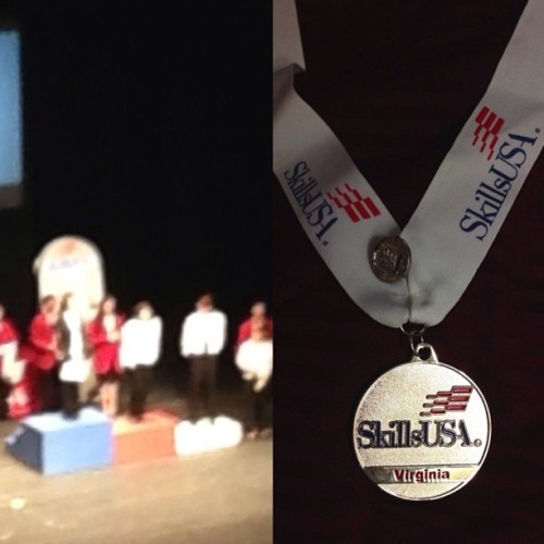 Placed 2nd in Cosmetology #skillsusa