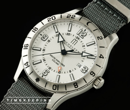 Timekeeping: Michelsen Arctic Explorer. If you're hitting the pole any time soon (or just shoveling the driveway), you'd do well to have it on your wrist.