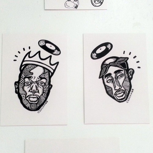 #GodGotTheBestRappers #RestInPower #Biggie #NotoriousBIG #Tupac #Pac #GOAT #DeadOrAlive #Dopeness by @yukachocomoo #BTS  @quietlunchmagazine #StayTuned