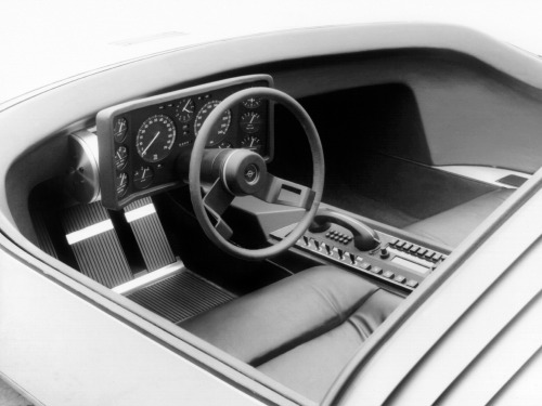 carinteriors:  Stunning 1969 Opel CD concept. Even the '60s car phone looks great [exterior]  Now that's design.