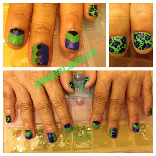 #nailart Just a few of my favorite things, including Essie Mojito Madness and Butler Please!!!! #essie #essiemojitomadness #essiebutlerplease