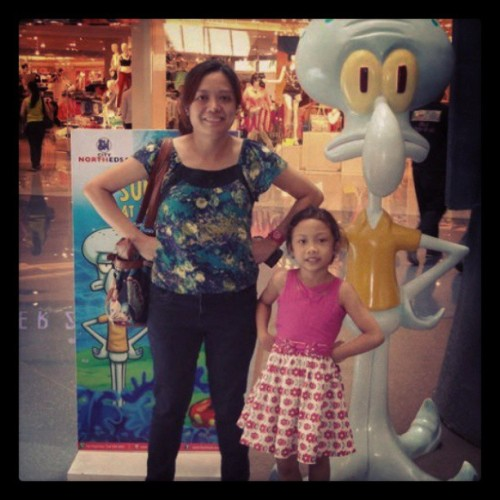 Squidward and us (at SM North EDSA)