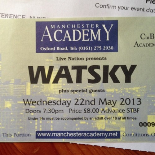 Cannot wait for Wednesday! @gwatsky #Watsky #Manchester #Dumbfoundead