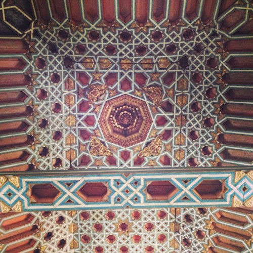 Alfarje style ceiling of a church in Quito. Interlocking pieces of wood that fit together like puzzle pieces. Beautiful, but not the greatest construction method for a city stricken with earthquakes and volcanoes. Stupid Spaniards.