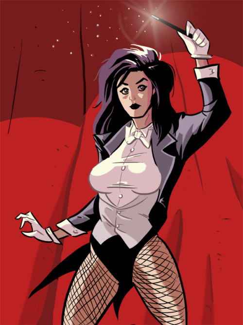 thehappysorceress:  Happy Birthday, Zee! Zatanna, Mistress of Magic by Ben Cloutier  Magic Monday