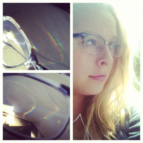 julianunes:  So sunny! My lenses are shooting rainbows all over the place. Heading toward Cleveland to play Beachland Ballroom with @agreatbigworld tonight