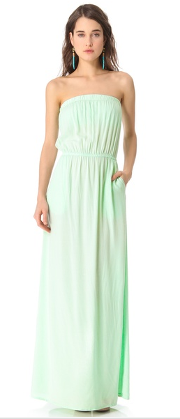 Love the mint color of this Splendid maxi dress, on sale on Shopbop for $82.60 (from $118).