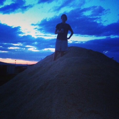 Standing atop $1,500 worth of shavings, drinking Modelo. Ballin. #tracklife