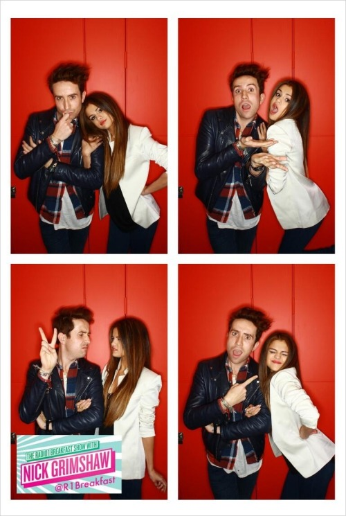 """@r1breakfast: looking fine, fresh and fierce it's @grimmers and @selenagomez in our #Instagrim booth :)"""