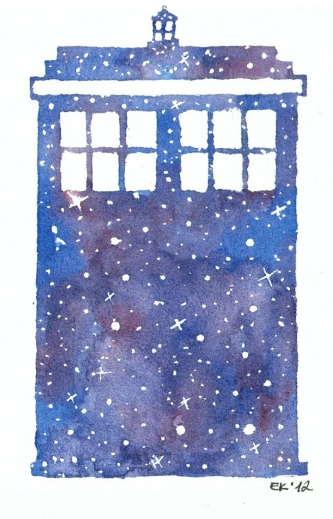 traumfaengerin-wish:  The Tardis - Doctor Who Painted with watercolours, by http://traumfaengerin-wish.deviantart.com/