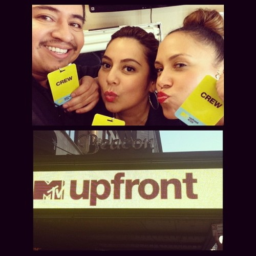Kisses from some of the makeup and hair team today at UpFront #MTV .. Missing Mara #backstage #makeup #makeupbydee #makeupartist #beauty #makeupteam