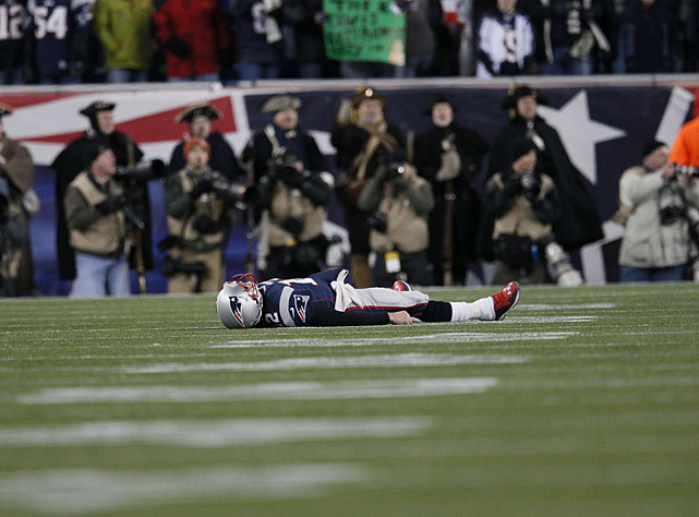 Another Patriots season ends in disappointment for Tom Brady, who hasn't won a championship since 2004. Brady won three titles in his first four seasons as New England's starting quarterback. (Damian Strohmeyer/SI) GALLERY: Rare Photos of Tom Brady