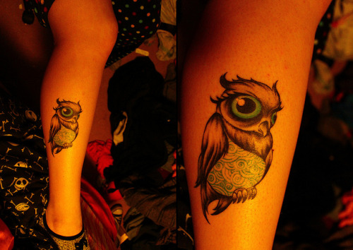 best-tattoos:  Owl on leg