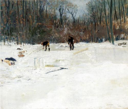 "J. Alden Weir, ""The Ice Cutters"" 1895"