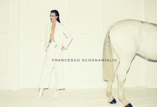 All white everything for Francesco Scognamiglio's spring/summer 2013 campaign.