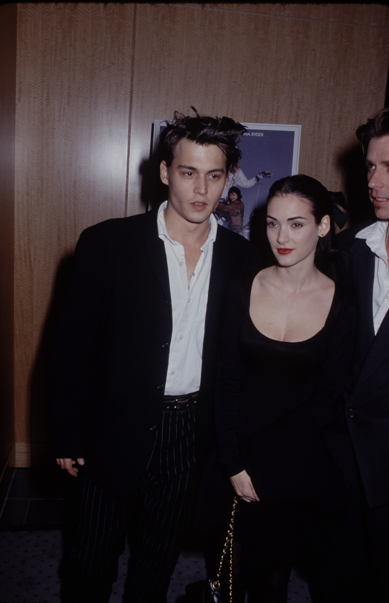 Johnny Depp and Winona Ryder at the Mermaids premiere in 1989
