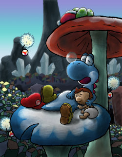 suppermariobroth:  A Cool Respite by =teh-yoshi