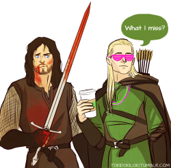 In which Legolas takes after his Ada and shows up 15 minutes late to every battle with Starbucks.