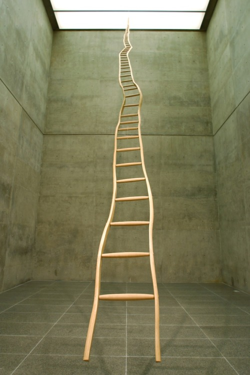 atavus:  Martin Puryear - Ladder for Booker T. Washington, 1996  I've seen this before in person, its breathtaking