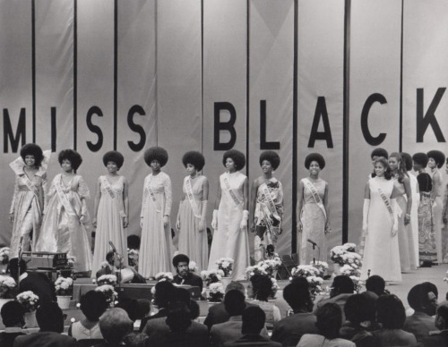 aydeenattylife:  Miss Black America Pageant 1972. Almost all had Afros. Fabulous!