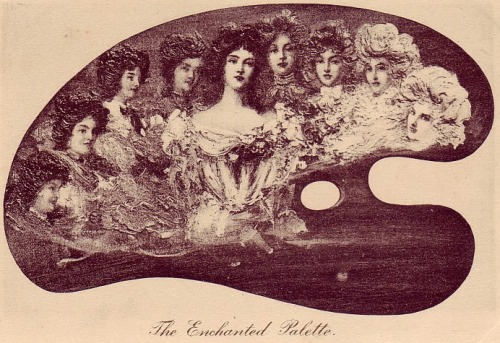 The Enchanted Palette postcard late 1800's