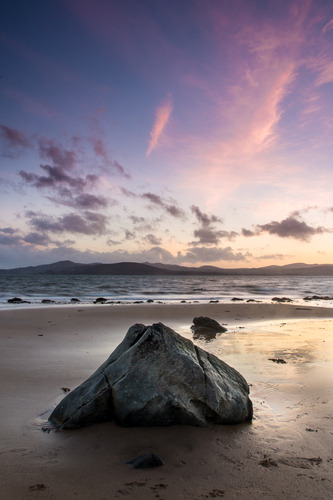 Photo of the Day: 'Shorefront Sunset' by Pete Webster.  Sun setting over Lough Swilly, Inishowen.  This photo is available to buy from only €25 at http://www.lokofoto.com/photos/4353