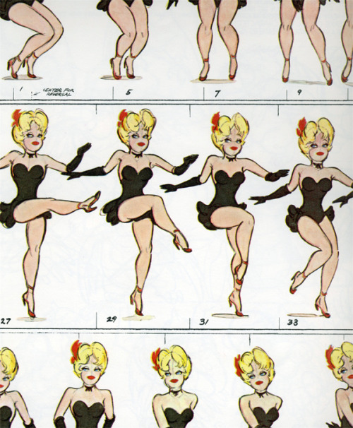 vintagegal:  Animation sheet by Preston Blair c. 1940s (x)