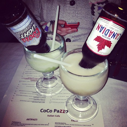 priinceerik:  Bulldogs! @calyssaw #cocopazzo #bulldogs #yum #drinks #dinner #fun #friends #yql #lethbridge