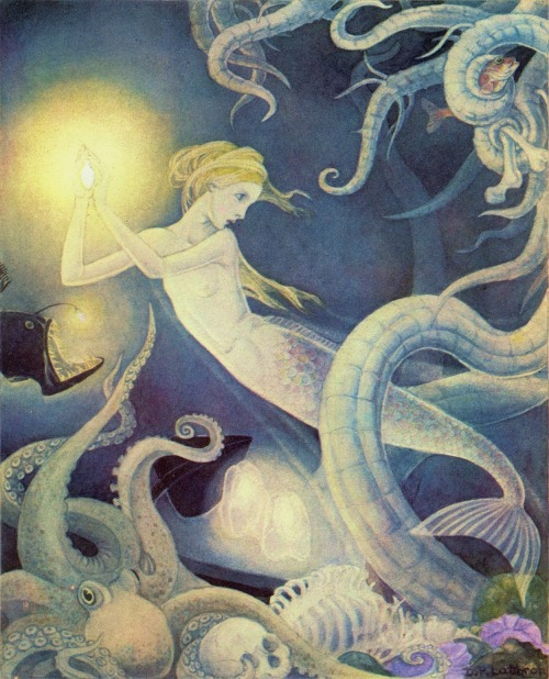 Dorothy Lathrop ~ The Little Mermaid ~ 1939 ~ via At the mere sight of the bright liquid which sparkled in her hands like a shining star, they drew back in terror.