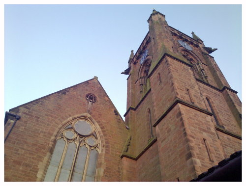 My local church. It has Gargoyles on three of the four corners of the tower. I sometimes wonder where the fourth one went…