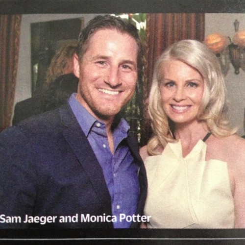 #TakeMeHome star #SamJaeger (in this week's issue of #Variety) at the #TVAcademyHonors in #BevHills May 9th. Pictured with #MonicaPotter.