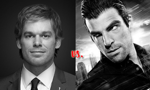 "Actual Murderers: Dexter Morgan Vs. Sylar Grey March Madness: Character Crazy-Off Similarities: High body counts & killer good looks.  Differences: Dexter has his ""dark passenger"" while Sylar is overshadowed by the two on his forehead. Which cold-blooded killer gives you the warm and fuzzies? VOTE NOW: http://www.charactergrades.com/march-madness-2013-character-crazy-off/actual-murderers-dexter-morgan-vs-sylar-grey"