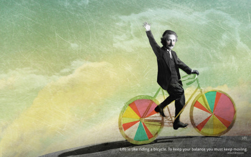 """Albert on a bike"" by Isabelle Cardinal from her beautiful blog Eyecreate. More sizes for this wallpaper can be found HERE."