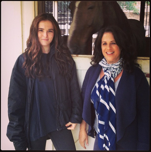 """Horsing around with @ZoeyDeutch and @MarciLiroff #BloodSisters #VAFamily #VAMovie"" -marciliroff"
