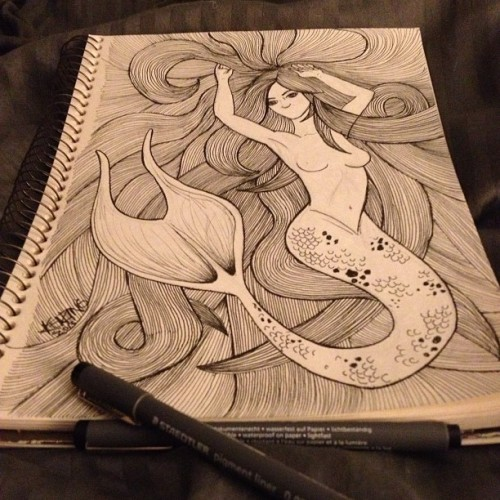 thank you insomnia. #nofilter #waypastmybedtime #mermaid #ink
