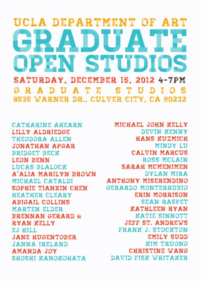 Open Studios! Tonight! I hope to see you there.