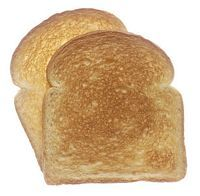 "astrodidact:  Atheist Sees Image of Big Bang in Piece of Toast (ACPA-London) Excitement is growing in the Northern England town of Huddersfield following news that local atheist Donald Chapman saw an image of the Big-Bang in a piece of toast. In an exclusive interview with ""The Huddersfield Express"" Chapman, 36, explained that he was sitting down to eat breakfast when an unusual toast pattern caught his eye. ""I was just about to spread the butter when I noticed a small hole in the middle of the bread surrounded by a burnt black ring,"" said Chapman. ""Then I saw the direction and splatter patterns of the crumbs - they were flowing outward from the center of a black hole, changing shades as their distance from the center grew. A perfect match to the chaotic-dynamic non-linear patterns that followed the Big-Bang. It's the beginning of the world - right there in my breakfast!"" Ever since news of the discovery made national headlines, local hoteliers have been overwhelmed by an influx of atheists from all over the country who have flocked to Huddersfield to catch a glimpse of the scientific relic. ""I have always been an Atheist and to see my unbelief validated on a piece of toast is truly astounding,"" exclaimed one guest at the Huddersfield Arms hotel. To the surprise of many, the UK Atheist Association has asked its members to ignore the story despite its potential to inspire less faith. ""Given what the religious believe already, this is an easy sell,"" complained one disgruntled activist who said he was going to Huddlesfield anyway noting that ""Seeing is not believing."" http://www.satireandcomment.com/0208toast.html"