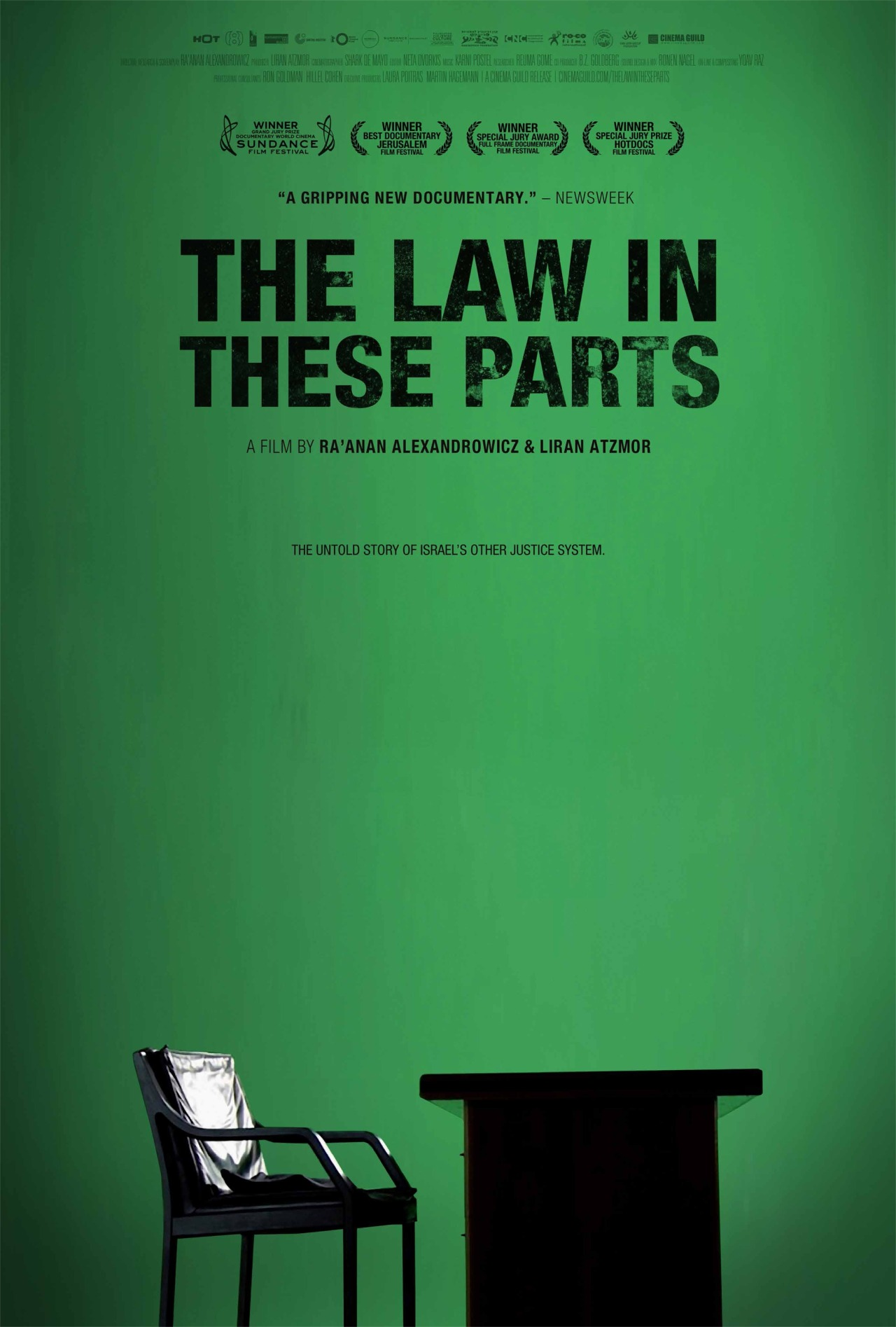 "The Law In These Parts by Ra'anan Alexandrowicz and Liran Atzmor Can a modern democracy impose a prolonged military occupation on another people while retaining its core democratic values?  Since Israel conquered the territories of the West Bank and Gaza Strip in the 1967 war, the military has imposed thousands of orders and laws, established military courts, sentenced hundreds of thousands of Palestinians, enabled half a million Israeli ""settlers"" to move to the Occupied Territories and developed a system of long-term jurisdiction by an occupying army that is unique in the entire world.    The men entrusted with creating this new legal framework were the members of Israel's military legal corps. Responding to a constantly changing reality, these legal professionals have faced (and continue to face) complex judicial and moral dilemmas in order to develop and uphold a system of long-term military ""rule by law"" of an occupied population, all under the supervision of Israel's Supreme Court, and, according to Israel, in complete accordance with international law. The Law In These Parts explores this unprecedented and little-known story through testimonies of the military legal professionals who were the architects of the system and helped run it in its formative years. The film attempts to ask some crucial questions that are often skirted or avoided: Can such an occupation be achieved within a legal framework that includes genuine adherence to the principles of rule-of-law? Should it? What are the costs that a society engaged in such a long term exercise must bear? And what are the implications of the very effort to make a documentary film about such a system?"