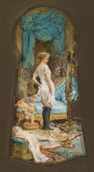 monsieurleprince:  Hans Zatzka (1859 – 1945) - Seen Through the Keyhole
