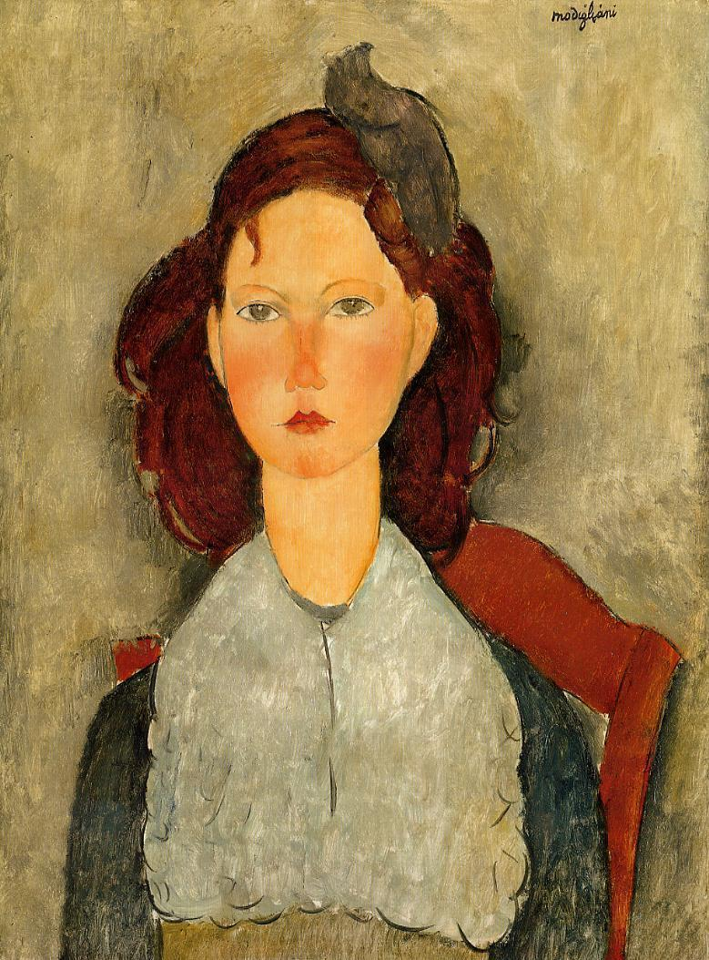 showmethe-monet:  Young girl seated by Amedeo Modigliani (1884-1920), italian painter.
