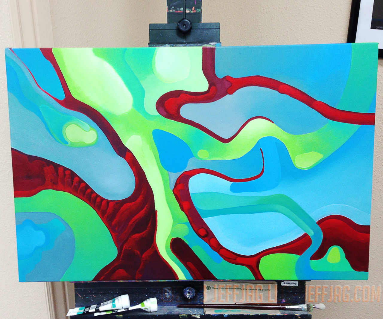 "©2013 jeffjag llc, Live, New, Acrylic Painting by JeffJag. RGB. 20""x30"" progress 30. #HOTMAY"