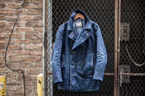 youbroketheinternet:    My Schott Perfecto Denim Peacoat - 2 Years In